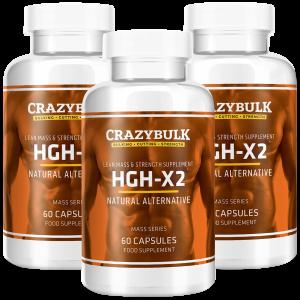 3 bottiglie di HGH-X2
