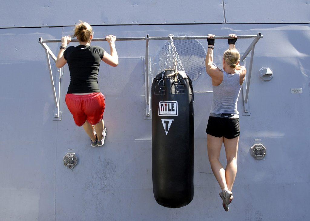 Esercizio muscolare di trazione