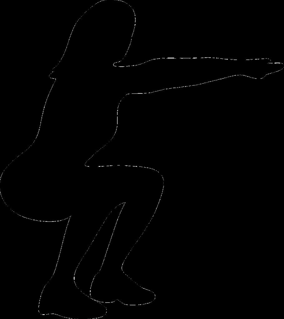 Postura di uno squat senza manubri